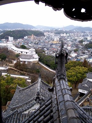 "View from ""White Heron Castle"" in Himeji"